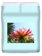 Dahlia Floral Garden Art Prints Canvas Summer Blue Sky Baslee Troutman Duvet Cover