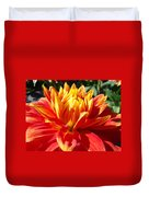 Dahlia Florals Orange Dahlia Flower Art Prints Canvas Duvet Cover