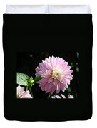 Dahlia Flower Art Pink Dahlias Giclee Art Prints Baslee Troutman Duvet Cover