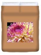 Dahlia Flower Art Sunlit Floral Prints Baslee Troutman Duvet Cover