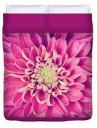 Dahlia Flower Petals Pattern Close-up Duvet Cover