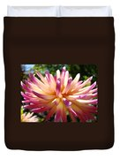 Dahlia Flowers Art Pink Purple Dahlias Giclee Baslee Troutman Duvet Cover
