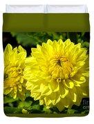 Dahlia Garden 3 Duvet Cover
