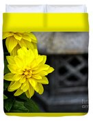 Dahlia Meditation Duvet Cover