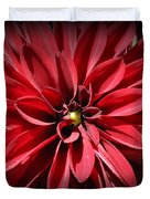 Dahlia Radiant In Red Duvet Cover