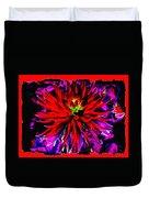 Dahlia Rouge Texture Avec La Frontiere  Duvet Cover