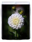 Dahlia White Flowers II Duvet Cover