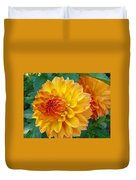 Dahlias Art Prints Orange Dahlia Flowers Baslee Troutman Duvet Cover