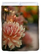 Dahlias Season Duvet Cover