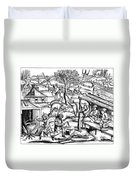 Daily Life: France, 1517 Duvet Cover