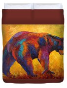 Daily Rounds - Black Bear Duvet Cover