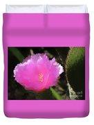 Dainty Pink Cactus Flower Duvet Cover