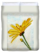 Daises From The Past Duvet Cover
