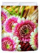 Daises On Indian Corn Duvet Cover