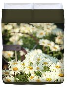 Daisies And A Hand Plow Duvet Cover
