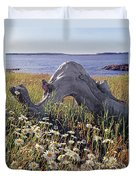 136236-daisies And Driftwood  Duvet Cover