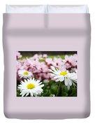 Daisies Flowers Art Prints Spring Flowers Artwork Garden Nature Art Duvet Cover
