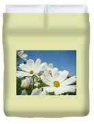 Daisies Flowers Art Prints White Daisy Flower Gardens Duvet Cover