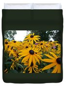 Daisies From Niagara Duvet Cover