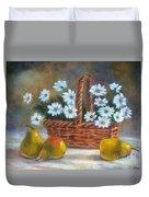 Daisies In Basket Duvet Cover