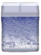 Daisies In Blue Duvet Cover