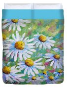 Daisies In Spring Duvet Cover