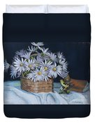 Daisies In Still Life Duvet Cover