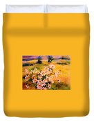 Daisies In The Sun Duvet Cover