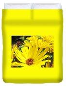 Daisies Summer Garden Art Print Yellow Daisy Baslee Duvet Cover