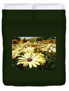 Daisies Yellow Daisy Flowers Garden Art Prints Baslee Troutman Duvet Cover