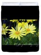Daisy A Day Duvet Cover