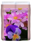 Daisy And Pansy Duvet Cover
