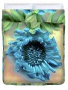 Daisy Blue Frame Duvet Cover
