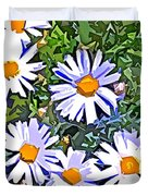 Daisy Flower Garden Abstract Duvet Cover
