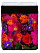 Daisy Rose Bouquet Duvet Cover