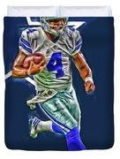 Dak Prescott Dallas Cowboys Oil Art Series 3 Duvet Cover