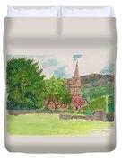 Edale Church And Beautiful Landscape Duvet Cover