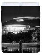 Dallas Cowboys Stadium Bw 032115 Duvet Cover
