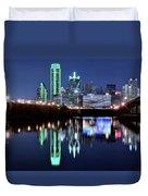 Dallas Dark Blue Night Duvet Cover