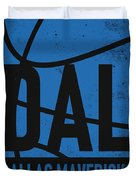 Dallas Mavericks City Poster Art Duvet Cover
