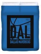 Dallas Mavericks City Poster Art Duvet Cover