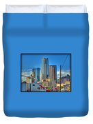 Dallas Morning Skyline Duvet Cover