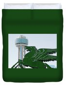 Dallas Pegasus Reunion Tower Green 030518 Duvet Cover