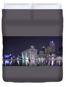 Dallas Skyline From City Hall Duvet Cover