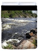Dalles Rapids French River I Duvet Cover