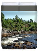 Dalles Rapids French River Ontario Duvet Cover