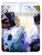 Dalmatian Dog Painting Duvet Cover