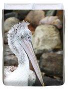 Dalmatian Pelican Duvet Cover
