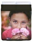 Damask Roses Duvet Cover