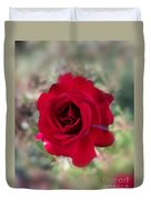 Dame En Rouge Duvet Cover
